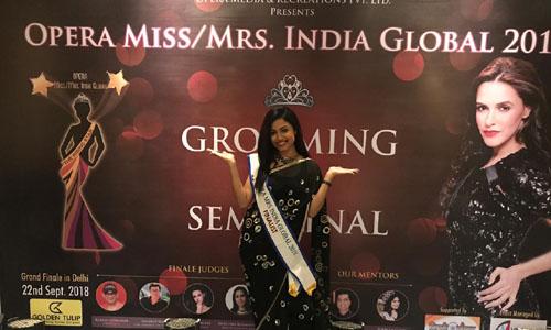 Pupul Bhuyan at Opera Mrs India Global